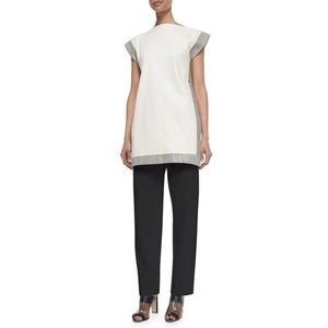 EDUN High Waisted Tuxedo Pants